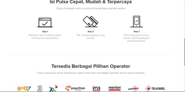 Step by step Isi Pulsa online dan semua operator bisa kapanpun
